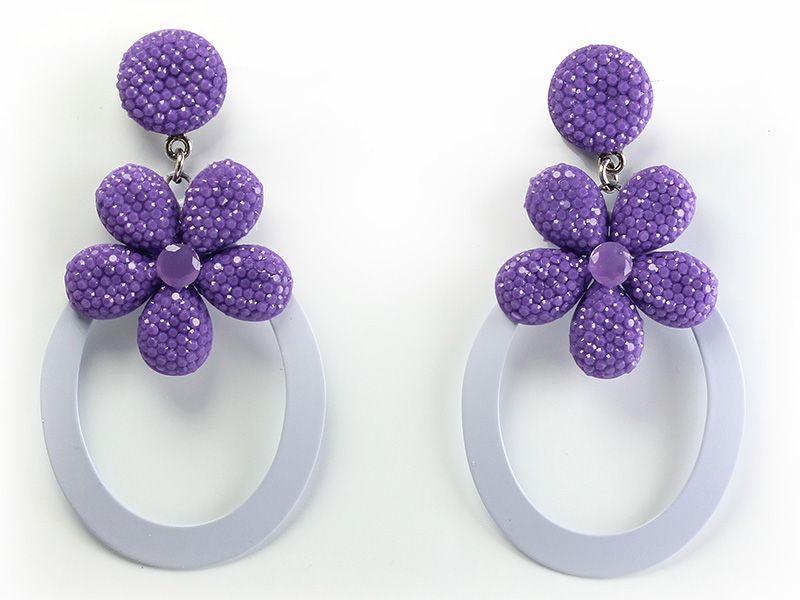 orecchini bianco bijoux